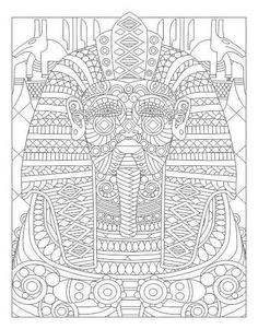 Egyptian coloring page Relax with Art