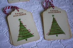 Handmade Vintage Style Christmas Gift Tags by TatteredRosesPaperie