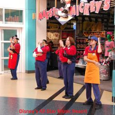 Dancing Cast Members at Disney's All Star Music Resort.   For more resort photos, see: http://www.buildabettermousetrip.com/images/wdw/ValueAllStarMusic/index.htm  #WDW #Disney