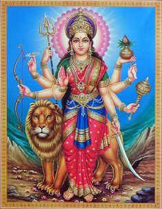 Durga, identified as Adi Parashakti, is a Hindu warrior goddess. Also known as Shakti or Devi, is the protective mother of the universe. All artwork is professionally printed on high quality heavy matte photo paper. Saraswati Goddess, Mother Goddess, Durga Maa, Shiva Shakti, Goddess Lakshmi, Krishna Hindu, Shiva Hindu, Divine Goddess, Divine Mother