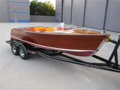 Sold* at Las Vegas 2013 - Lot #630 1956 CORRECT CRAFT COLLEGIAN WOOD BOAT