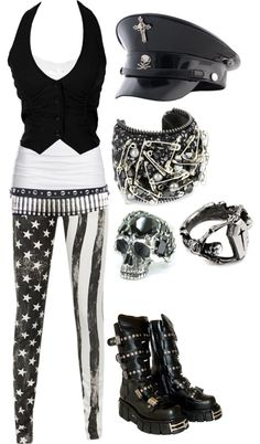 A fashion look from January 2013 featuring cardigan shrug, grey skinny jeans and punk leggings. Browse and shop related looks. Scene Outfits, Punk Outfits, Gothic Outfits, Fashion Outfits, Skater Outfits, Disney Outfits, Fashion Boots, Dark Fashion, Gothic Fashion