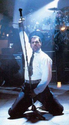 I Want It All (1989) live performance video shoot. Freddie Mercury