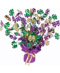 mardi gras...have a ton of these for the center pieces on all the tables for the annual mardi gras party
