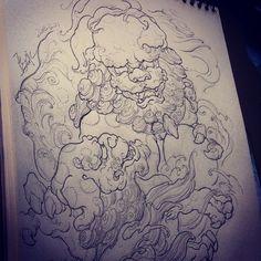 Chronic Ink Tattoo - Toronto Tattoo - Foo Dog sketch by Master Ma.