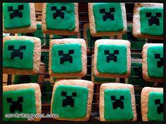 Galletas Minecraft de creeper, paso a paso, #tutorial #cookies