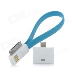 Usb To 30 Pin Data Charging Cable W 8 Lighting Adapter For