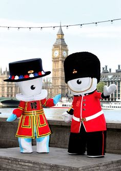 Wenlock and Mandeville, mascots for London Olympics 2012, are ready to go in British style!