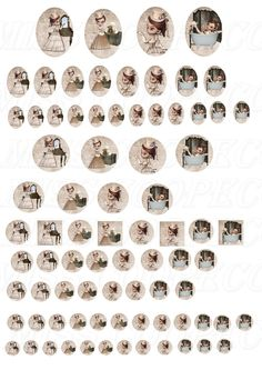 "80 images collage digital pour cabochons ""miss Victoria"" Image Collage, Cabochons, Victoria, Photo Wall, Creations, Scrap, Printables, Digital, Etsy"