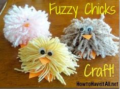 Fuzzy Chicks Easy Kids Craft!