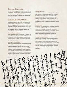College of Calligraphy Bard by The Middlefinger of Vecna