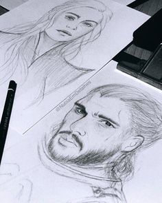 Fire or Ice? in progress // #DaenerysTargaryen & #JonSnow #gameofthornes #got #fanart #fanarts #gameofthrones7 #jonerys by @NubiaEmDetalhes #art