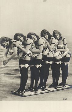 Vintage ladies in bathing suits