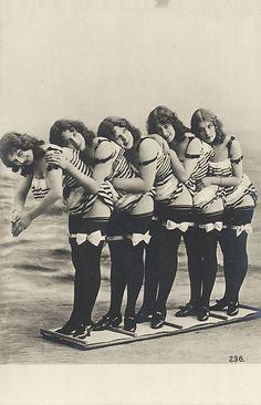 Vintage ladies in bathing suits