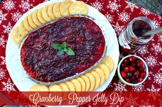 Mommy's Kitchen - Home Cooking & Family Friendly Recipes: Cranberry - Pepper Jelly Dip {Holiday Leftovers} #cranberrysauce #holidayleftovers #wmtmoms #spon