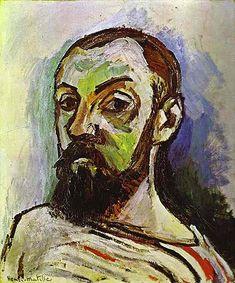 Self-Portrait in a Striped T-shirt 1906  Oil on Canvas   Henri Matisse