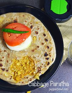 Easy Cabbage Paratha Recipe, Cabbage paratha is whole wheat flat bread stuffed with cabbage and spices.
