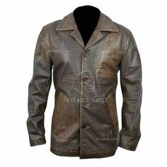 #Supernatural #Distressed #Brown #Cowhide #Genuine #Leather #Jacket #Menswear #Apparel #Shop #eBay