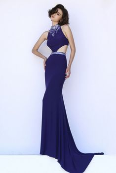 Open-Back Sherri Hill 32064 Sexy Prom Dress 2015 Sherri Hill Homecoming Dresses, Royal Blue Prom Dresses, Prom Dresses 2016, Dress Prom, Ball Dresses, Dance Dresses, Dress Long, Two Piece Formal Dresses, Purple Evening Dress
