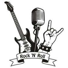 Rock N Roll, Pop Rock, Music Drawings, Art Drawings, Music Tattoo Sleeves, Rock And Roll Fantasy, Music Backgrounds, Baby Drawing, Heavy Metal Music