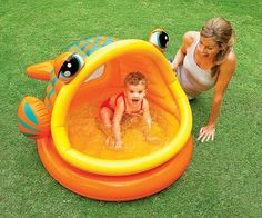 Inflatable fish baby pool! (Click for price)