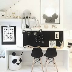 Kids Workspace Inspo and Image Regram thanks to Veronica @verothesan based in Sweden❤❤❤ It's the weekend and time for our kids  workspace feature. One of the best monochrome workspaces we have ever come across created by the talented Veronica @verothesan. We just adore it all!❤❤❤