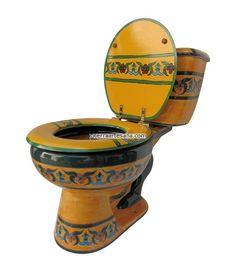 talavera toilets: mexico hand painted toilet | The Throne ...