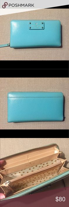 Kate Spade Wallet! Robins egg blue | Used and loved on for a while but great condition | fantastic organization inside layout (my favorite type of wallet!) kate spade Bags Wallets