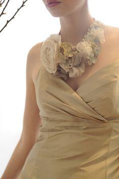 Silk Flower Necklace #inspiration