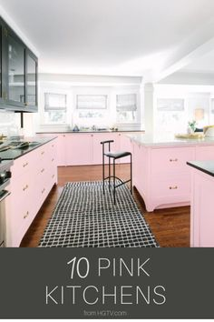 These kitchens go outside of the color palette norm. Get inspired to spice up your kitchen with a pop of pink.