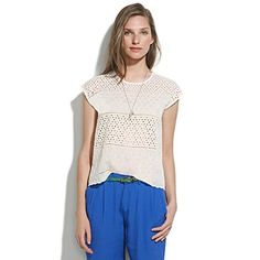 Eyelet Cropped Top-madewell