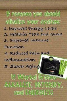 Honestly one of the best things to do for your body! Not only does it taste great but it gives me the energy & boost I didn't think was possible alisonjackson.myitworks.com
