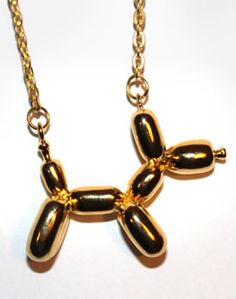 Balloon Dog Necklace: Is it wrong that I think this is cute?