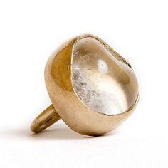 Bronze bezel set ring Clear Quartz One of a kind, stone shape varies Handmade in NYC Contemporary Jewellery, Modern Jewelry, Jewelry Art, Jewelry Rings, Silver Jewelry, Jewelry Accessories, Fine Jewelry, Jewelry Making, Unique Jewelry