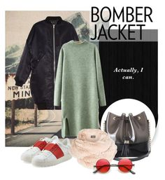 """""""bomberjackets: Actually, I can"""" by babochan ❤ liked on Polyvore featuring R13, Valentino, Kartell, Chicnova Fashion, Harrods, vintage, women's clothing, women, female and woman"""