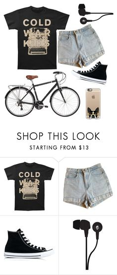 """""""Biking for Chinese Food."""" by ratta-tattoo ❤ liked on Polyvore featuring American Apparel, Converse, Skullcandy and Casetify"""