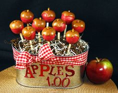 Beautiful caramel apple cake pops!  Perfect for Fall!