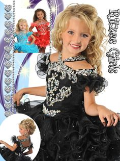 Halter Ruffles Pleat Ruched Rhinestone Ball Gowns Puffy Skirt Crystal Organza Little Girls Pageant Gowns Kids - Engagement Rings Toddler Pageant Dresses, Pagent Dresses, Pageant Gowns, Toddler Dress, Pageant Hair, Glitz Pageant, Party Dresses, Cheap Flower Girl Dresses, Girls Formal Dresses