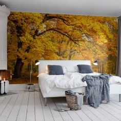 Photo mural of Yellow Leafy Trees Interior