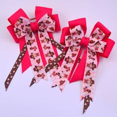 Dark Pink Little Cowgirls Equestrian - Pluff Bows Little Cowgirl, Boutique Bows, Cowgirls, Bow Ties, Equestrian, Hair Bows, Gift Wrapping, Dark, Paper Wrapping