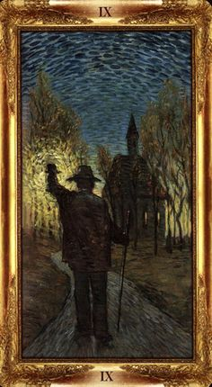 The Hermit - Impressionist Tarot - If you love tarot, visit me at www.WhiteRabbitTarot.com