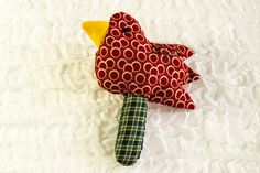 Baby Bird Rattle, Soft Toy, Baby Toy,Red,Green,Yellow, Cotton