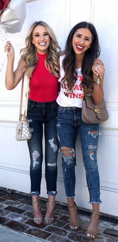 #spring #outfits red tank top. Pic by @champagneandchanel