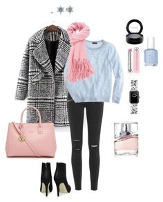 """blue and pink"" by ulusia-1 ❤ liked on Polyvore featuring Paige Denim, J.Crew, Furla, Pandora, Christian Dior, BOSS Hugo Boss, Essie, Chanel and MAC Cosmetics"