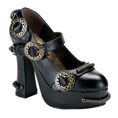 Chaussures steampunk Demon 29 Blk