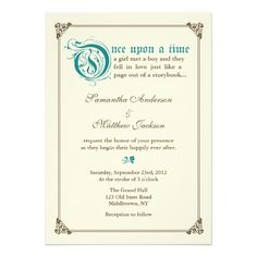 Storybook Fairytale Wedding Invitation - Teal need in lavendar!