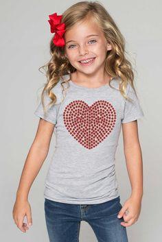 Red Heart Tee - Girls