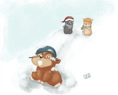 Silly snowfun   Kids Illustration by S.K.Y. van der Wel at Coroflot.com