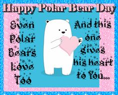 Celebrate Polar Bear Day by giving someone you love this gorgeous polar bear card Free online Polar Bears Love Too ecards on Polar Bear Day Romantic Hug, Arctic Ice, Bear Card, Love Hug, Wishes For You, Feeling Special, Name Cards, Family Love, Card Sizes