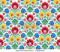 Seamless floral polish pattern - ethnic background by RedKoala, via Shutterstock